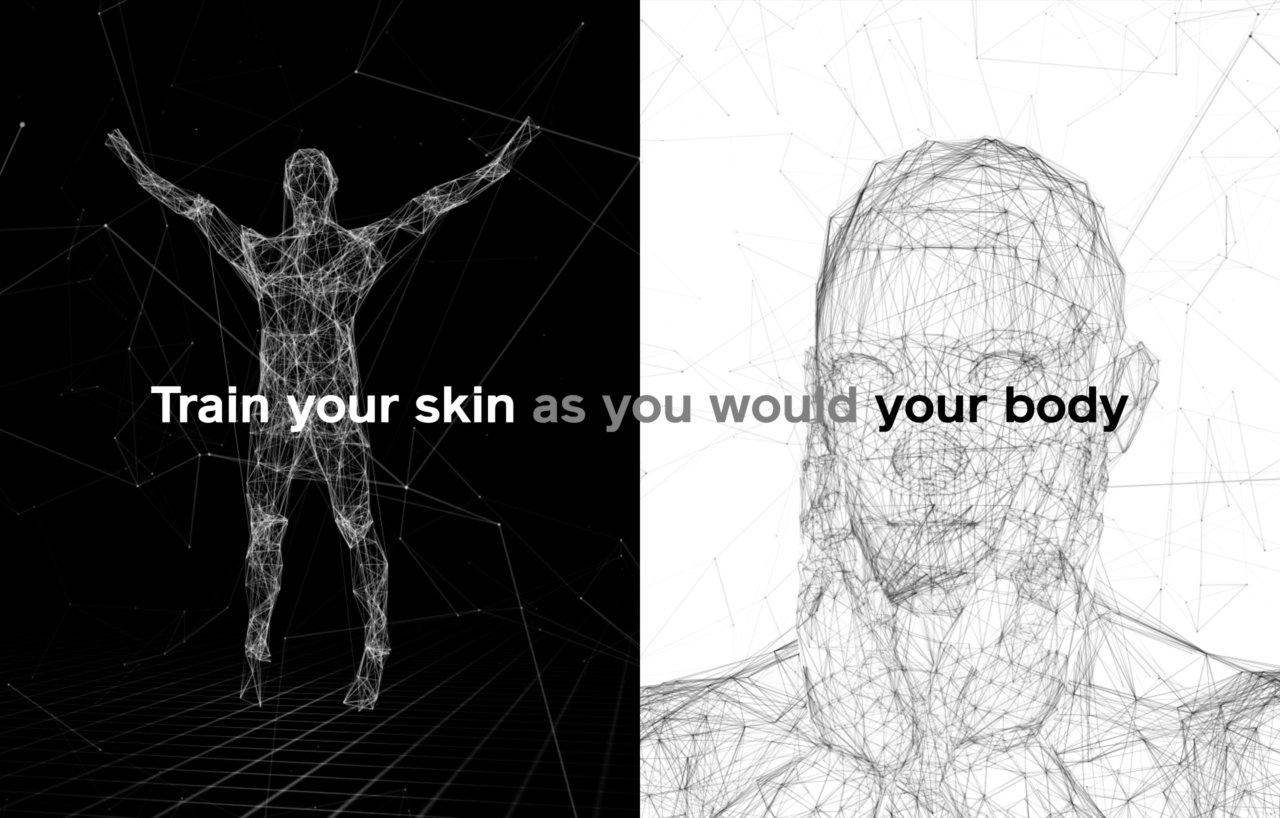 SHISEIDO MEN / The 10 second facial workout